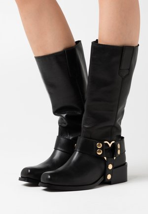 HIGH  - Cowboy- / Bikerboots - black