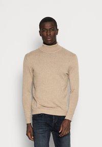 Selected Homme - SLHTOWER ROLL NECK  - Stickad tröja - tuffet/melange - 0