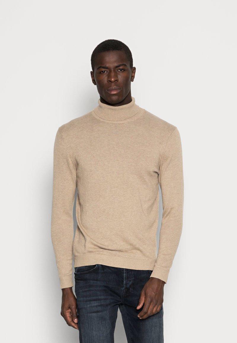 Selected Homme - SLHTOWER ROLL NECK  - Stickad tröja - tuffet/melange