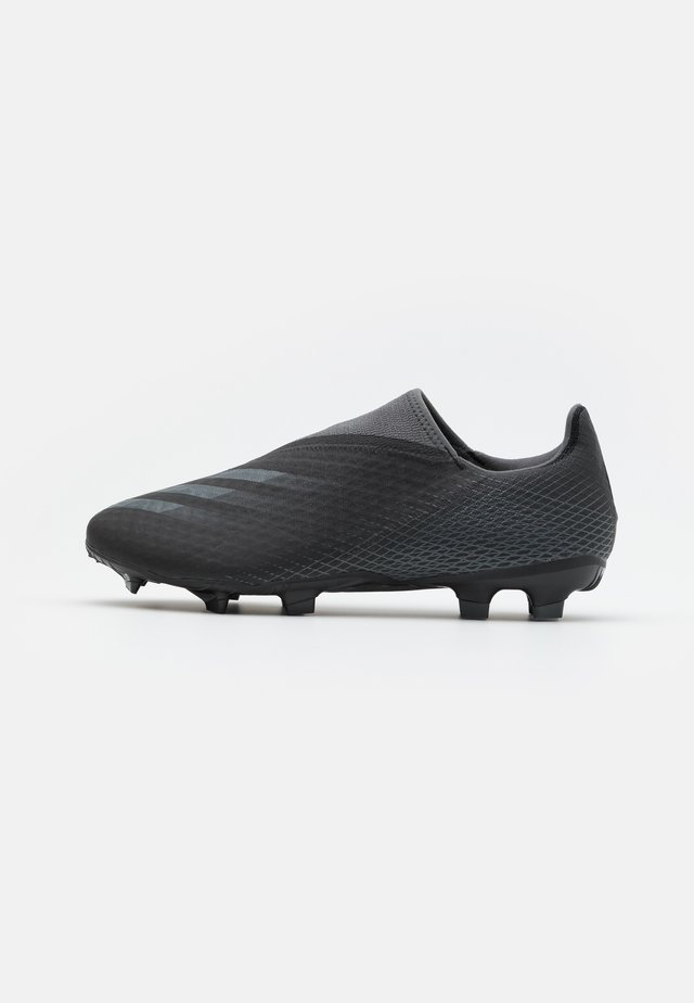 X GHOSTED.3 FOOTBALL BOOTS FIRM GROUND - Moulded stud football boots - core black/grey six