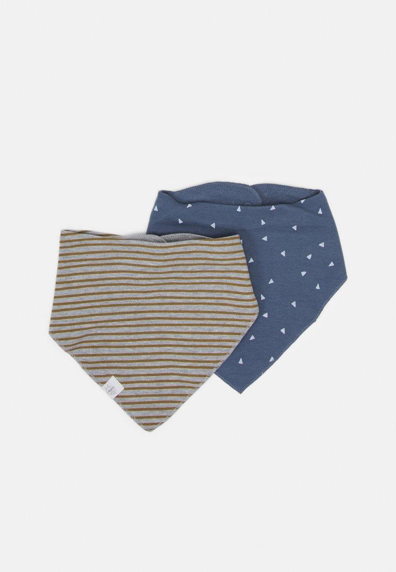 Lässig - BANDANA COWL NECK TRIANGLE 2 PACK UNISEX - Foulard - blue/grey mélange