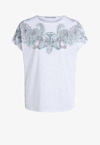 Oui - Print T-shirt - white green - 4