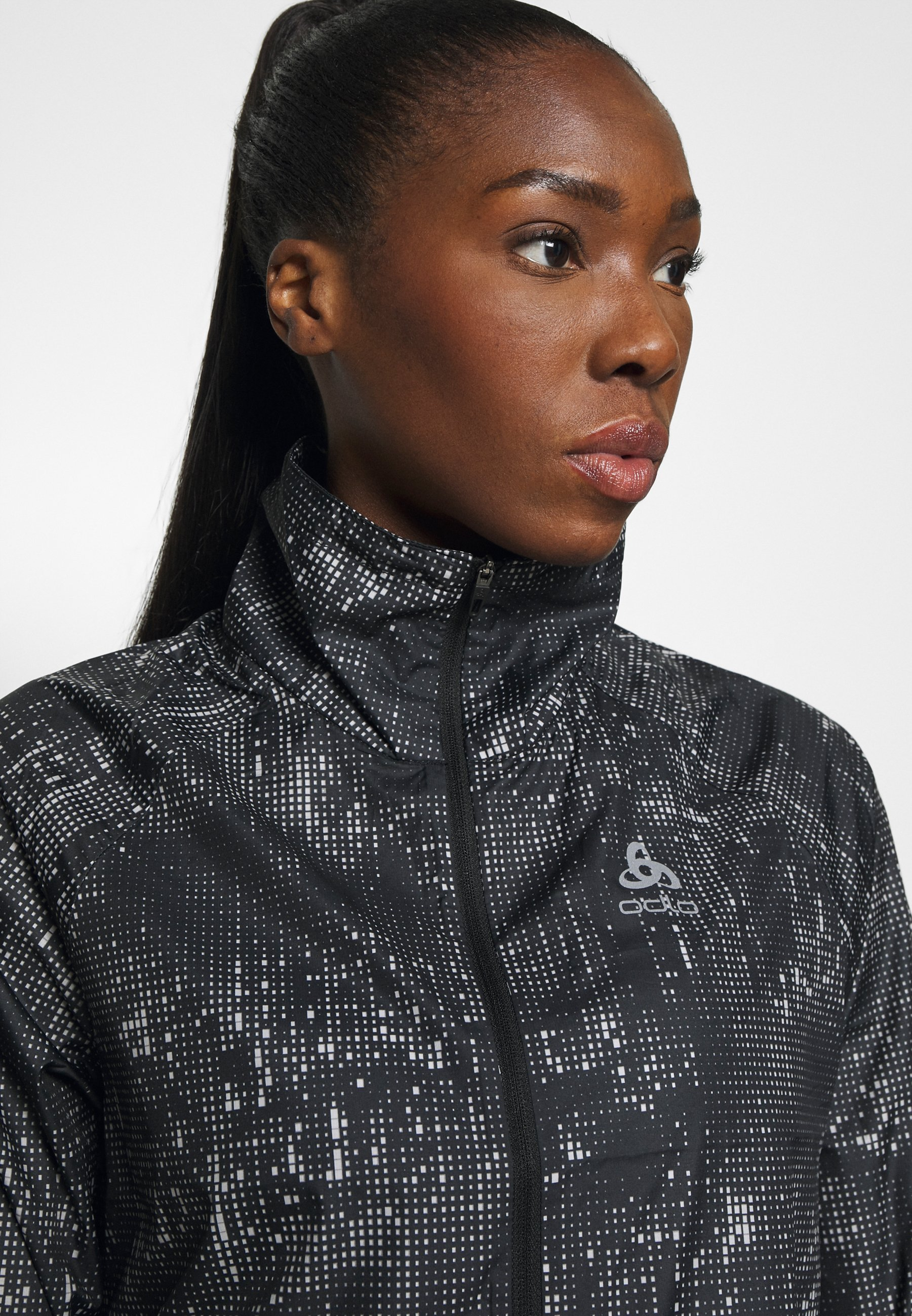 ODLO JACKET ZEROWEIGHT PRINT - Sports jacket - black CO3xU