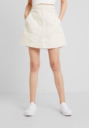 MAZE SKIRT - Áčková sukně - ecru