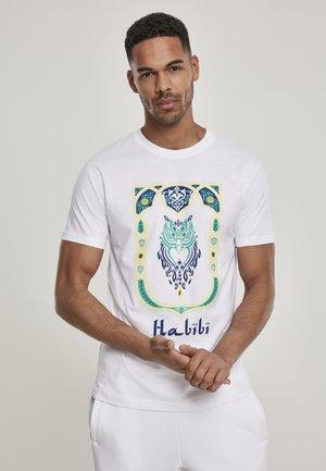 HABIBI OWL - Print T-shirt - white
