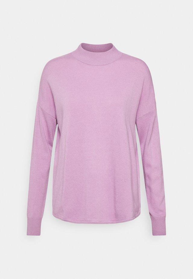SOLID ORNAMENT MOCKNECK - Sweter - dip vibrant lilac