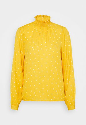VIDOTTIES SMOCK - Blouse - spicy mustard/cloud dancer