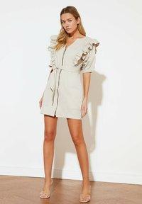 Trendyol - PARENT - Shift dress - beige - 3
