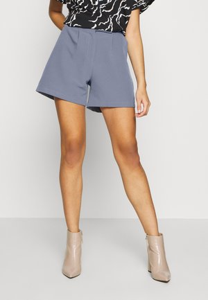 STRUCTURED SELF BUTTON TAILORD - Shorts - blue
