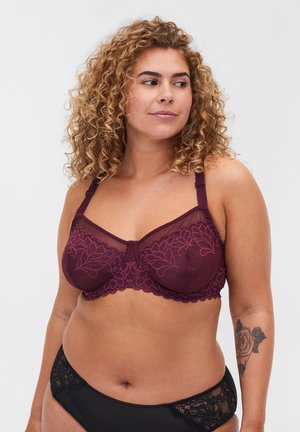 WITH UNDERWIRE AND MESH DETAILS - Underwired bra - winetasting
