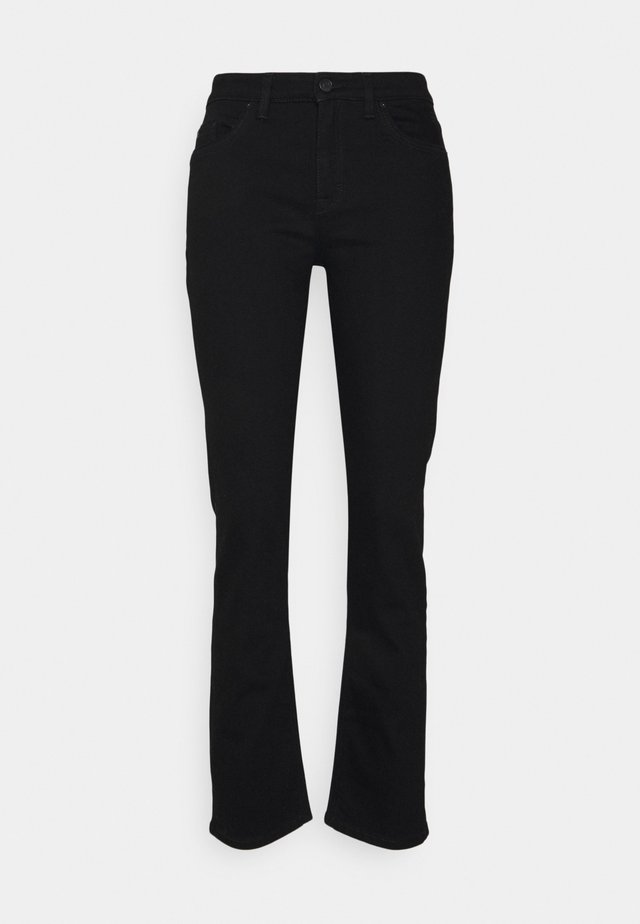 Jeansy Straight Leg - black
