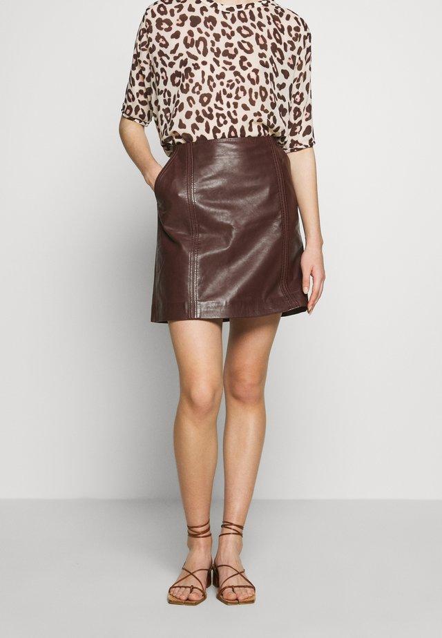 BALDIZI - A-line skirt - bean