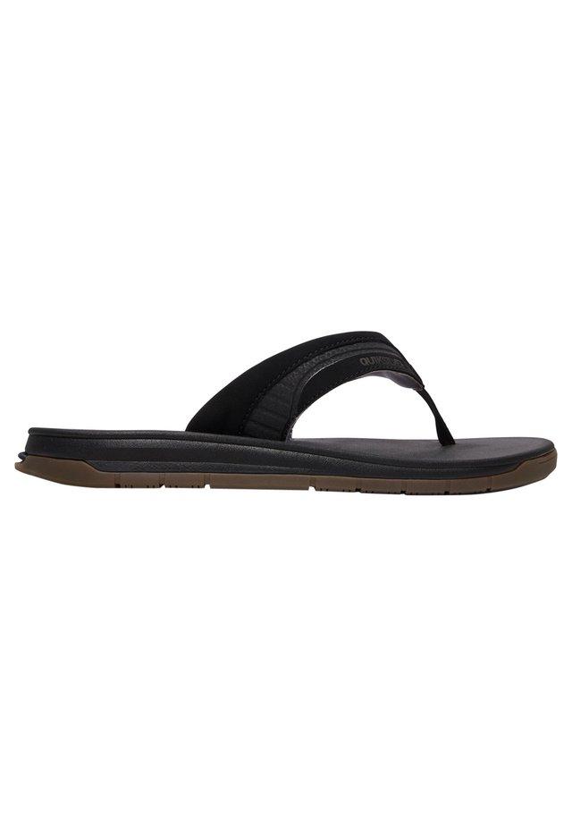 T-bar sandals - black/black/brown