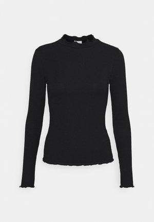 VIJULLA HIGH NECK - Langarmshirt - black