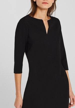 MIT V-AUSSCHNITT - Day dress - black