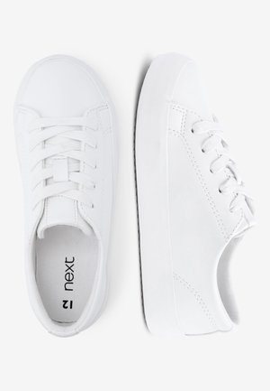 WHITE LACE-UP SHOES (OLDER) - Sneakers laag - white
