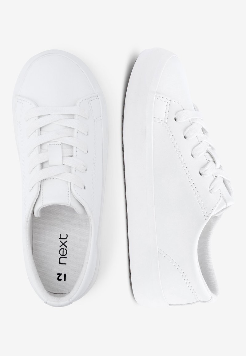 Next - WHITE LACE-UP SHOES (OLDER) - Trainers - white