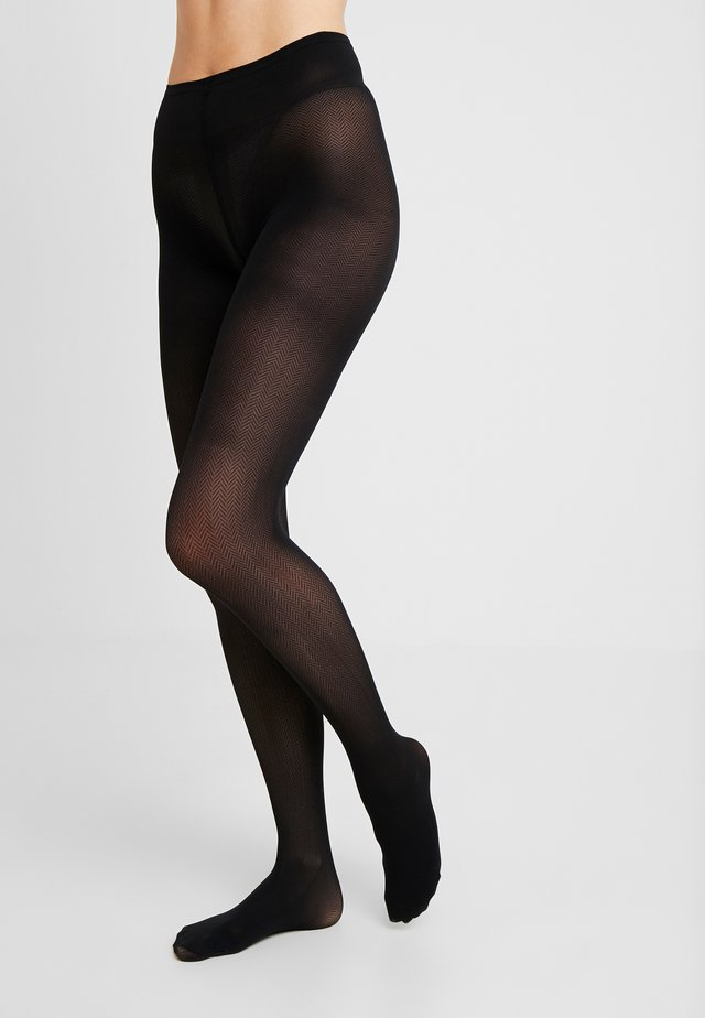 NINA FISHBONE 40 DEN - Collants - black
