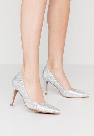 WIDE FIT VENUS - Højhælede pumps - silver