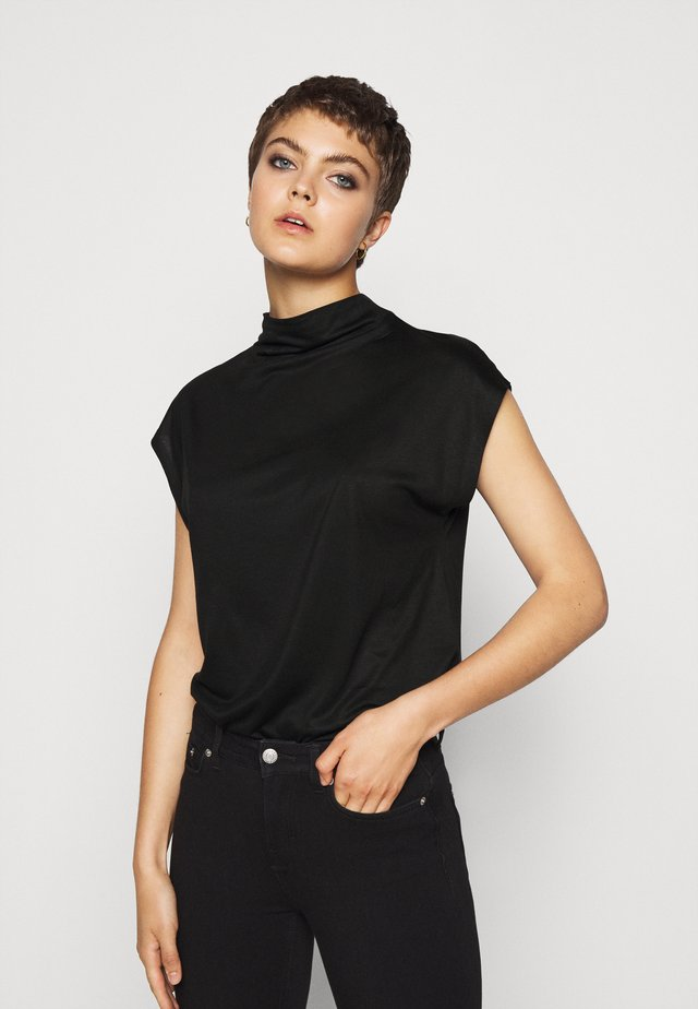 NAMIRA - Basic T-shirt - schwarz