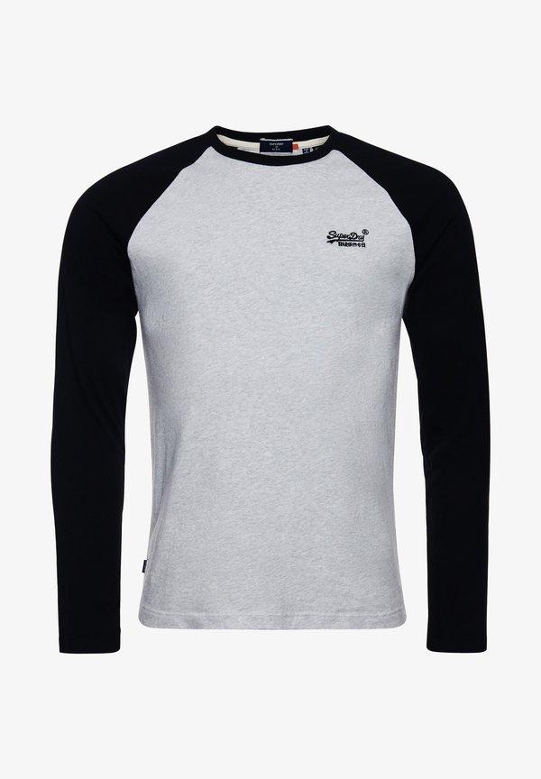 Superdry ORANGE LABEL - Bluzka z długim rękawem - off white marl/jasnoszary Odzież Męska TQJH