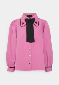 Sister Jane - GEM PLAYER BOW BLOUSE - Button-down blouse - pink - 4