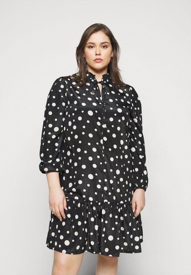 LADIES DRESS SPOT - Day dress - black/cream