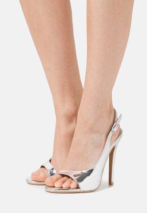 BRISA - High heeled sandals - silver
