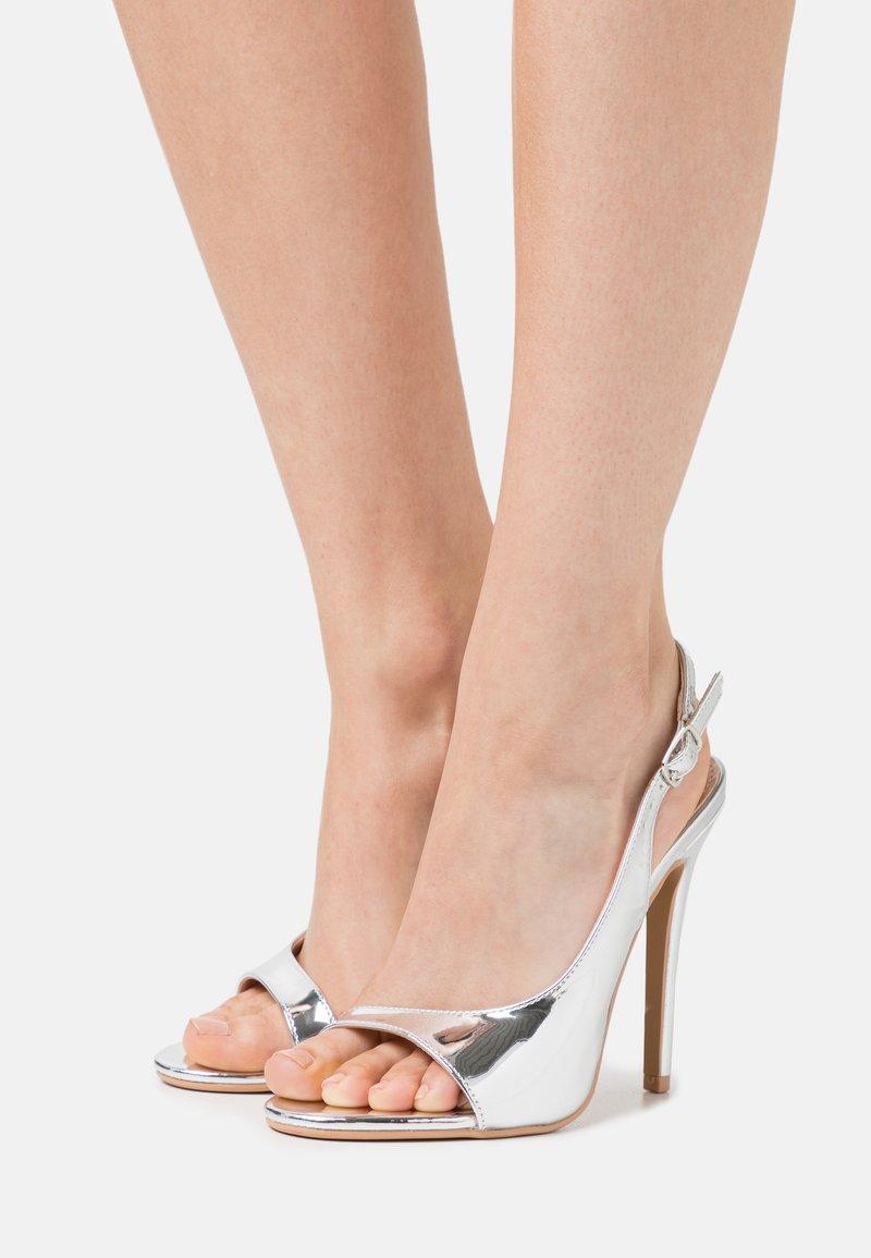 BEBO - BRISA - Sandály na vysokém podpatku - silver