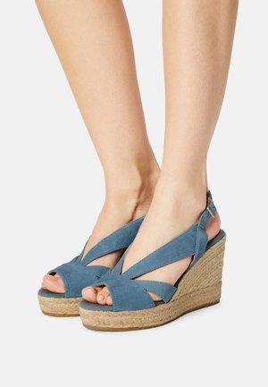 INES - Platform sandals - hellblau