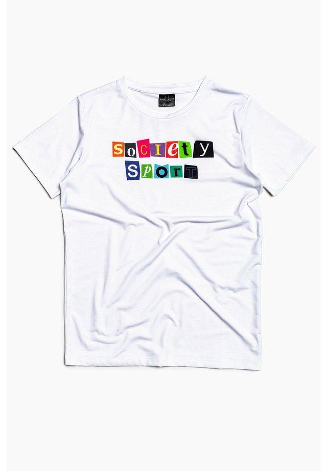 MAGAZINE - Print T-shirt - white/multi