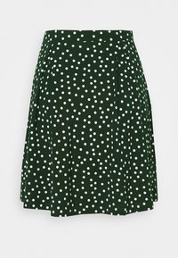 Even&Odd - A-line skirt - white/green - 3