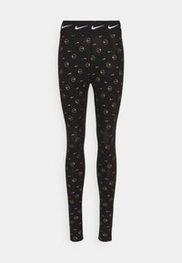 Nike Sportswear - PRINT PACK - Leggings - Trousers - black/metallic gold - 4