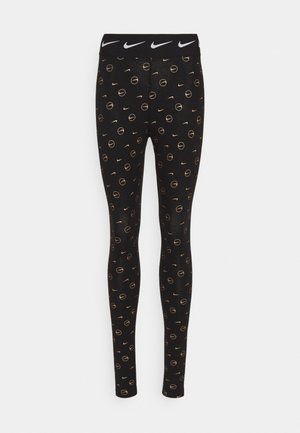 PRINT PACK - Legging - black/metallic gold