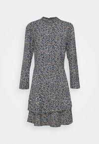 Dorothy Perkins Tall - TALL DITSY SHEERED NECK MINI DRESS - Day dress - multi - 4