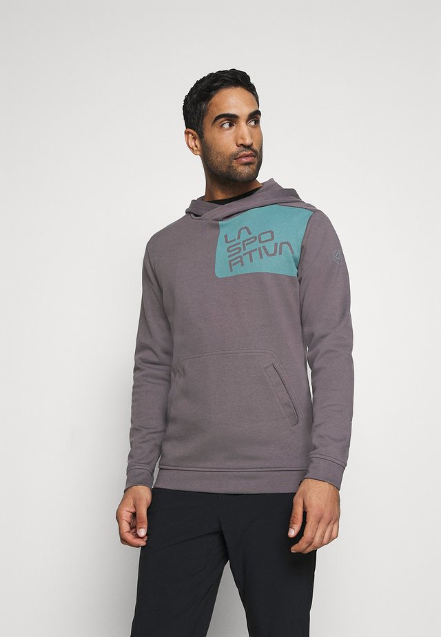 STRIDE HOODY - Sweatshirt - grey/pine