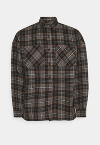 CHECK - Shirt - brown