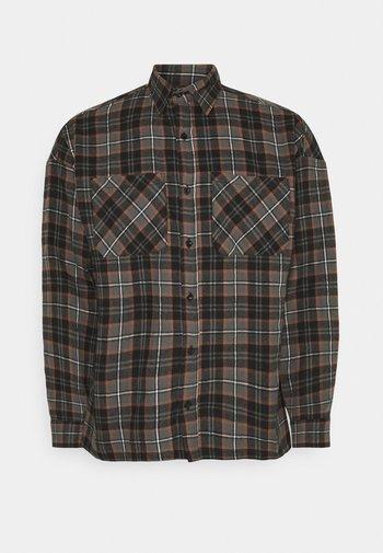 CHECK - Overhemd - brown
