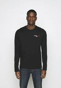 Tommy Jeans - LONGSLEEVE CORP - Maglietta a manica lunga - black - 0