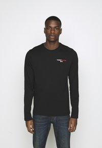 Tommy Jeans - LONGSLEEVE CORP - T-shirt à manches longues - black - 0