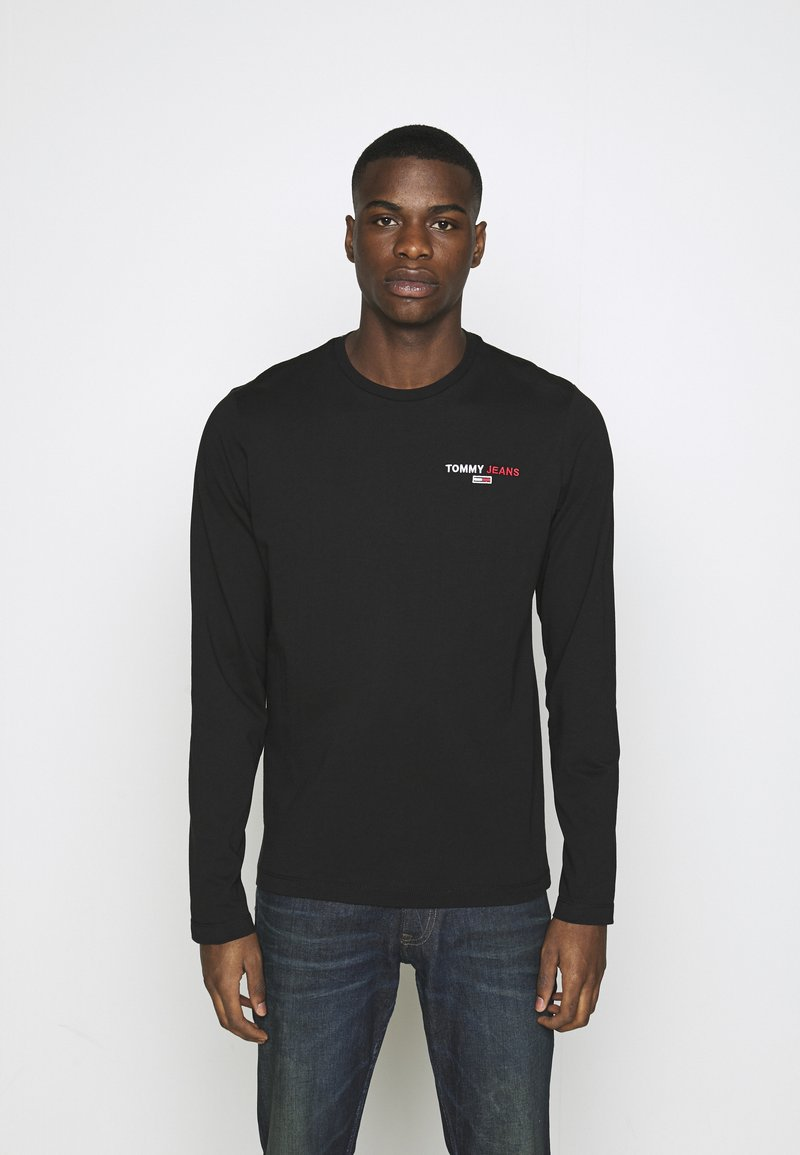 Tommy Jeans - LONGSLEEVE CORP - Maglietta a manica lunga - black