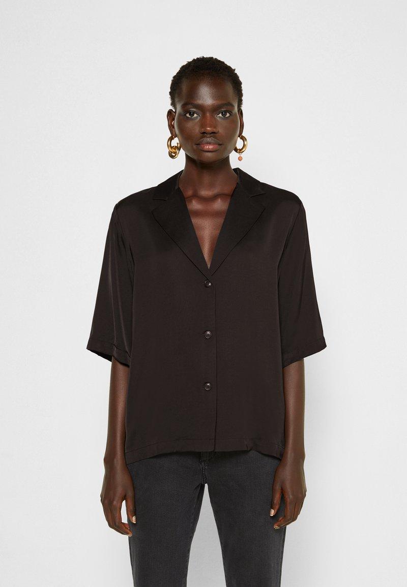 DESIGNERS REMIX - EMME  - Button-down blouse - black