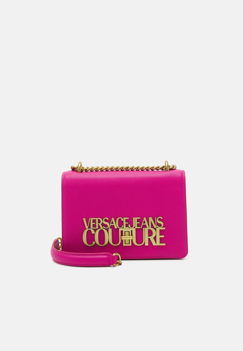 Versace Jeans Couture - SAFFIANO LOCK CROSSBODY - Torba na ramię - paradise