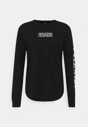 PRINT SUMMER FADE - Bluzka z długim rękawem - black
