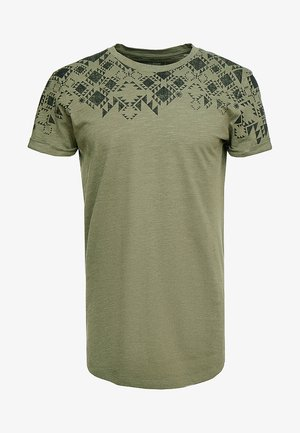T-shirt con stampa - dusty olive green