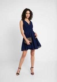 TFNC - VIVIAN MINI SKATER DRESS - Cocktail dress / Party dress - navy - 2