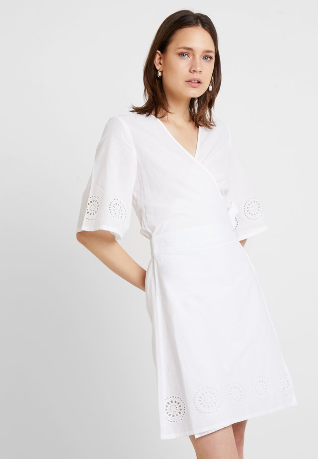 KABRODY WRAP DRESS - Day dress - optical white