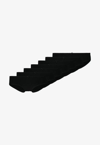 Romy 7 pack short - Kalhotky - black