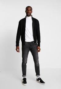 Solid - SHAD ZIP  - Cardigan - black - 1