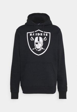 NFL LAS VEGAS RAIDERS MID ESSENTIALS CREST GRAPHIC HOODIE - Klubové oblečení - black